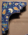 Turchia, iznik, mattonella di nicchia, 1555-65 ca..JPG