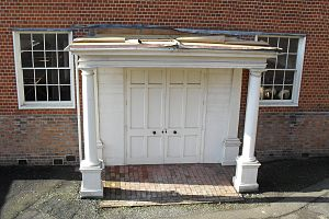 Lewes Free Presbyterian Church - The Tuscan-columned porch