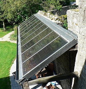 Solar energy - Solar water heaters facing the Sun to maximize gain