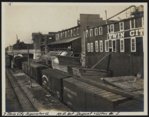 Fairmount and Veblen Railway - Businesses located along the  Chicago, Milwaukee and Saint Paul Railroad.  The 24 original businesses in the early 1900s
