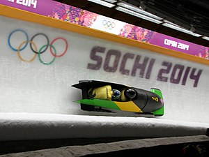Two-man bobsleigh, 2014 winter Olympics, Jamaica.jpg