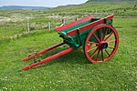 Two-wheeled horse-drawn farm cart in the Skye Museum of Island Life.jpg