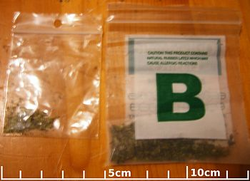 English: Two bags of physician prescribed medi...