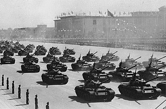 Type 59 tank - Type 59 tanks participating in the PRC's 10th National Day parade in 1959.