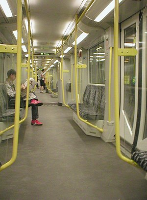 Berlin U-Bahn rolling stock - Interior of a HK type train