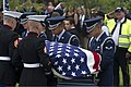 U.S. Airmen and Marines carry the casket of retired U.S. Air Force Col. George Day during his funeral service at Naval Air Station Pensacola, Fla., Aug. 1, 2013 130801-F-RS318-002.jpg