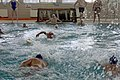 U.S. Marines with 1st Reconnaissance Battalion and Navy corpsmen swim toward a polo ball during a water polo tournament at Al Asad Air Base, Iraq, March 15, 2009 090315-M-KL291-043.jpg
