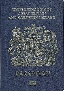 British passport passport issued to British people