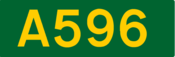 A596 road shield