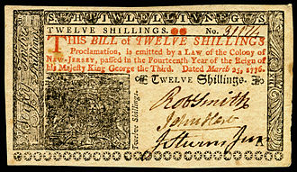 John Hart (New Jersey politician) - New Jersey Colonial currency (1776) signed by John Hart.