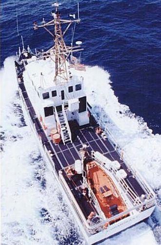 Stern launching ramp - Image: USCG Marine Protector showing stern launching ramp
