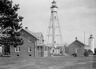 Michigan Island Light - Image: USC Gmichiganislandlight