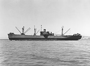USS Adhara (AK-71) - USS Adhara (AK-71) off the Mare Island Navy Yard on 20 August 1943