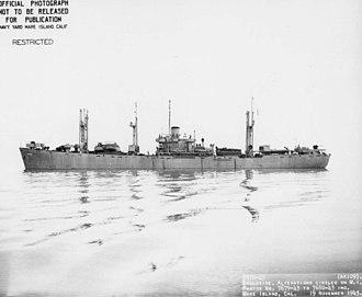 USS Allioth (AK-109) - Image: USS Allioth (AK 109)