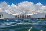 USS Arizona memorial from waterline (2).jpg