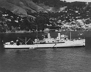 USS Aroostook in harbor