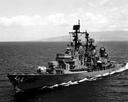 USS Dewey (DLG-14) underway off Oahu 1968