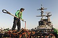 USS Harry S. Truman conducts a replenishment-at-sea. (12663027434).jpg