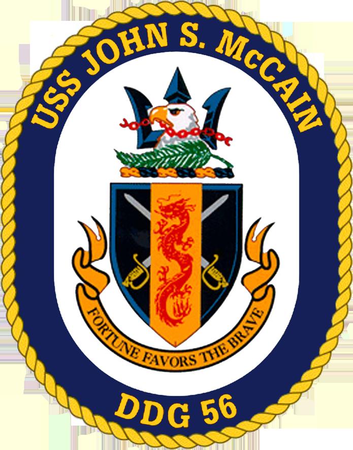 USS John S. McCain DDG-56 Crest