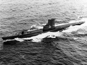 USS Segundo (SS-398) - USS Segundo (SS-398) underway at sea on 1 March 1966.