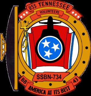 USS Tennessee (SSBN-734) - Image: USS Tennessee SSBN 734 COA