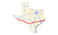 US 90 (TX) map.svg