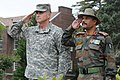 US Army Brig. Gen. Robert Ulses and Indian Army Brig. Guljeet Singh Jamwal render a salute at the playing of their respective national anthems.jpg