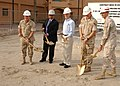 US Navy 031124-N-1938G-001 The Secretary of the Navy, the Honorable Gordon R. England, center, leads a ground breaking ceremony at Naval Support Activity (NSA).jpg