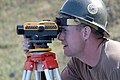 US Navy 040329-N-8937A-063 Utilitiesman 2nd Class Adam Townsend, assigned to Naval Mobile Construction Battalion Five (NMCB 5), Detail Sasebo, surveys a construction site.jpg