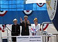 US Navy 040731-N-5268S-001 First Lady Laura Bush christens PCU Texas (SSN 775).jpg