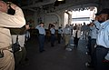 US Navy 050908-N-2954M-013 Commanding Officer, USS Iwo Jima (LHD 7), Capt. Richard S. Callas and his crew render honors to Vice President Dick Cheney and his wife Lynne during a visit to the ship.jpg
