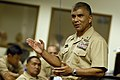US Navy 080606-N-9818V-043 Master Chief Petty Officer of the Navy (MCPON) Joe R. Campa Jr. addresses the Executive Medical Department Enlisted Course (EMDEC) held at the Naval Medicine Manpower Personnel Training and Education.jpg