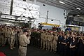 US Navy 081208-M-6412J-085 Actor and Marine Corps icon Gunnery Sgt. R. Lee Ermey speaks to Marines and Sailors.jpg