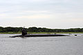 US Navy 090630-N-1841C-015 Ohio class ballistic missile submarine USS West Virginia (SSBN 736) transits the Atlantic Intracoastal Waterway as it returns to Naval Submarine Base Kings Bay, Ga. from a patrol mission.jpg