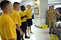 US Navy 090713-N-9818V-012 Master Chief Petty Officer of the Navy (MCPON) Rick West speaks with the 2009 Sailors of the Year at the Navy Annex uniform shop.jpg