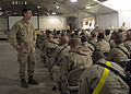 US Navy 100109-N-9584H-187 Rear Adm. Mark Handley addresses the questions and concerns of Seabees during an all hands call at Kandahar Airfield.jpg