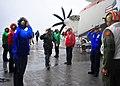 US Navy 100212-N-2953W-120 Rainbow sideboys render honors to Rear Adm. Anatolio Cruz.jpg