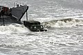 US Navy 100603-M-5053B-102 A Humvee navigates ashore after disembarking from a landing craft utility (LCU) along Red Beach at U.S. Marine Corps Base Camp Pendleton, Calif. during Dawn Blitz 10.jpg