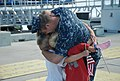 US Navy 100827-N-3090M-372 Friends and family welcome home Sailors aboard the Los Angeles-class attack submarine USS Annapolis (SSN 760).jpg