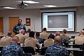 US Navy 110317-N-5469W-016 Rear Adm. Vic Guillory, commander of U.S. Naval Forces Southern Command and U.S. 4th Fleet, kicks off the Don't Ask, Don.jpg