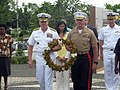 US Navy 110629-N-YY999-098 Adm. Patrick Walsh, left, and Brig. Gen. Richard Simcock carry a wreath to be placed on the Guadacanal Monument.jpg