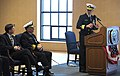 US Navy 111117-N-PO203-156 Rear Adm. Matthew Klunder, incoming chief of naval research, addresses guests, including Sean J. Stackley, assistant sec.jpg