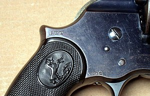 John T. Thompson - Thompsons J.T.T inspector mark on a Colt Philippine Model of 1902 DA Revolver