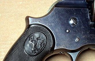 John T. Thompson - Thompsons J.T.T inspector mark on a Colt Philippine Model of 1902 DA Revolver
