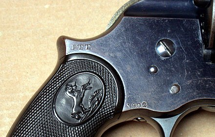 Thompsons J.T.T inspector mark on a Colt Philippine Model of 1902 DA Revolver US Revolver JTT proof.JPG