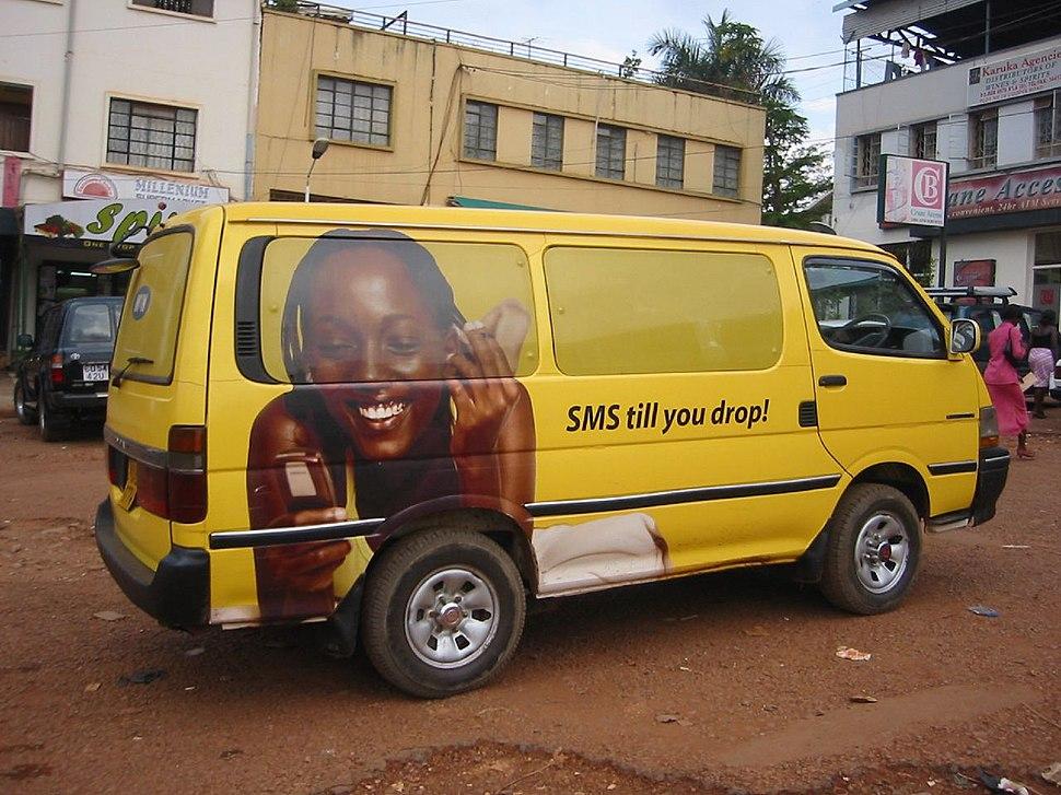 Uganda - ad on van in Kampala