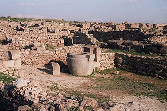 Levantine archaeology - Excavated ruins at Ras Shamra in Syria