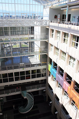 Faculty of Translation and Interpreting of the University of Geneva - The FTI is located on the sixth floor of the University of Geneva's Uni Mail building.