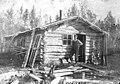 Unidentified man outside cabin in Valdez, Alaska, September 1906 (AL+CA 4756).jpg
