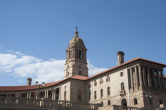 Union Buildings - The eastern wing of The Union Buildings represents the English population of South Africa
